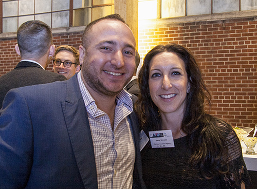 Ian Weinstein with YAD Outreach Co-Chair, Stacey Stivaletti, at The Art of the Schmooze event.